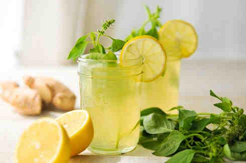 коктейль из соды и лимона