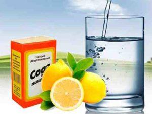 лимон сода и минералка