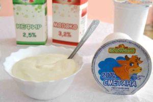 сметана кефир молоко