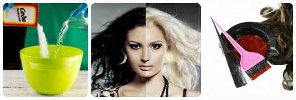 девушка до и после обесцвечивания