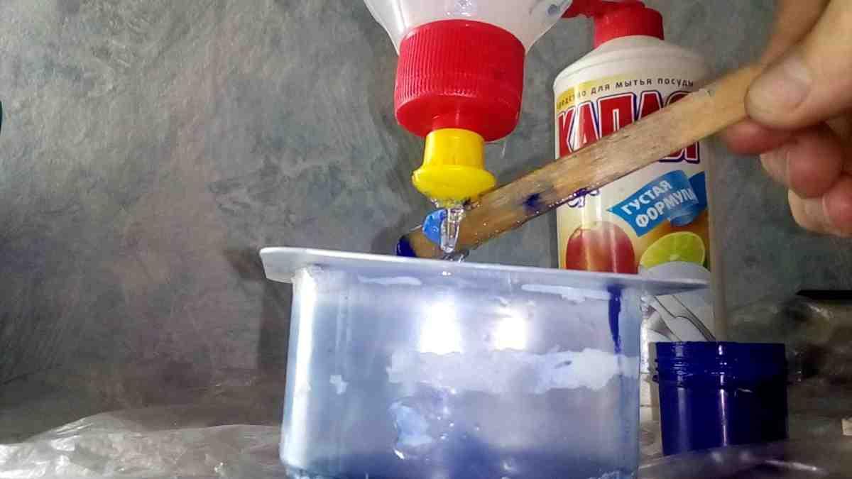 Как сделать лизуна из соды и фейри 492