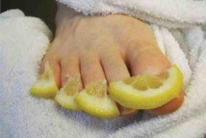 лимон на пальцы