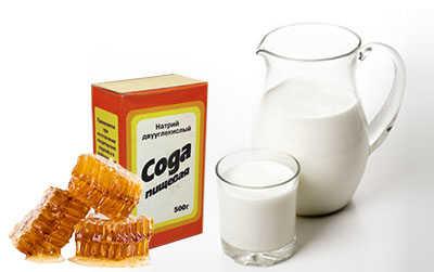 сода молоко мед