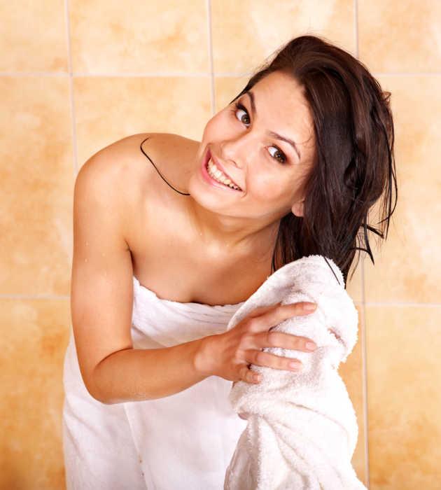обернуться полотенцем